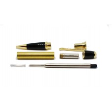 Gatsby Pen Kit - Gold & Black Chrome